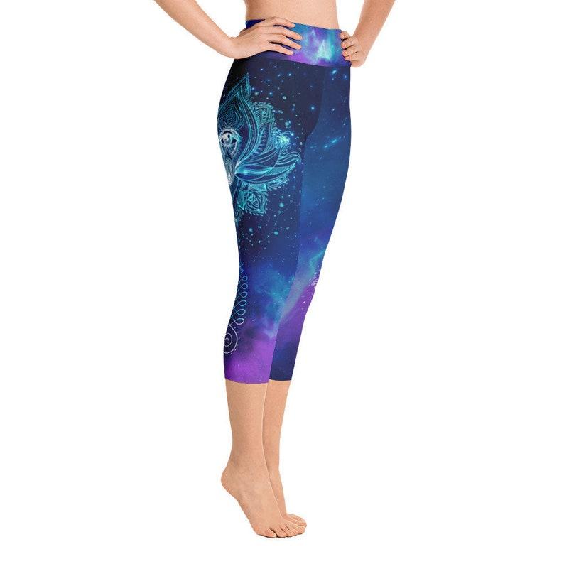 86a255980f403 Lotus Yoga Pants Third Eye Yoga Leggings Mandala Pants Boho | Etsy