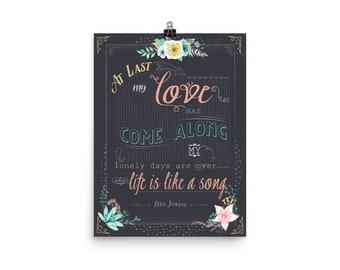 At Last Print Poster, Etta James Wall Art