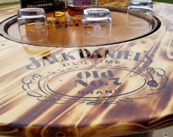 Whiskey Barrel Table | Etsy
