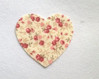 Piece of heart 9 cm material cotton sewing fabric
