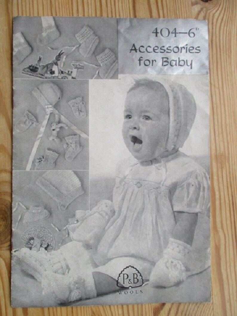 Patons Accessories for Baby Knitting Pattern 404-6