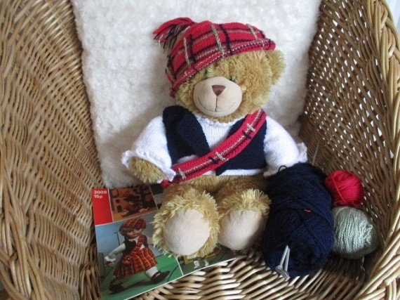 Teddy Highland Tartan set Tartan Teddybär Kleidung | Etsy