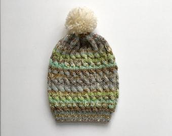 87c213d2c4e Baby Toddler Winter Wool Fairisle Effect Pom Pom Bobble Hat - Rustic Moose  Company