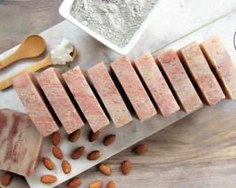Organic Cherry Almond Shampoo Bars Bundle, Save on 10 Soap Bars, Vegan Shampoo Bars, Cold Process Soap, Gift Idea