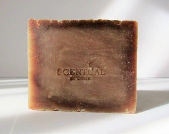 Organic Sandalwood Soap Bar, Cold Process Soap, Vegan Soap, Gift Idea