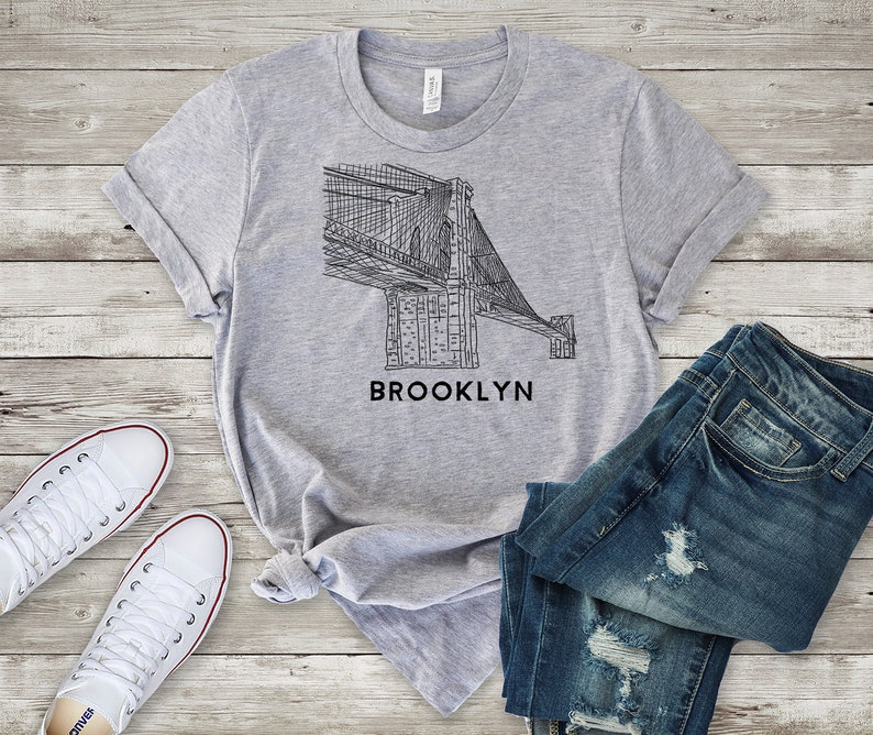 088c6c9a Brooklyn Bridge Line Drawing New York City for Fans of | Etsy
