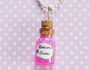 Unicorn necklace / Unicorn / tears / Tears / magic