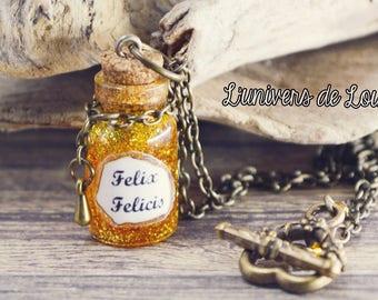 Felix Felicis potion vial necklace