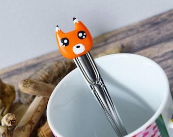 Spoon Kawaii Fox handmade