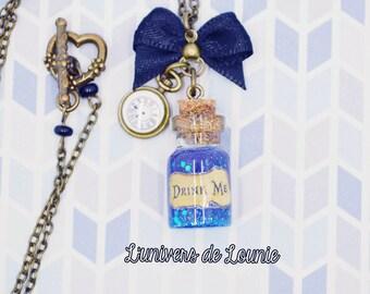 """""""Drink Me"""" Alice vial necklace"""