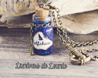 Wolfsbane vial Potion necklace