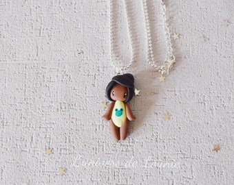 Doll swimsuit handmade necklace