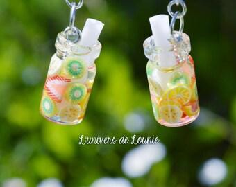 Juice bottle Earrings