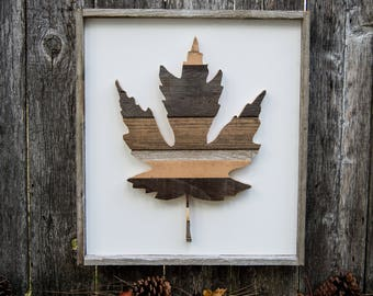 Autumn Leaf Art / Fall Leaf Art / Leaf Wall Art / Autumn Wall Decor / Fall Wall Decor / Autumn Leaf Wall Art