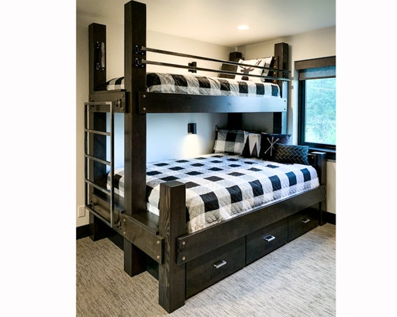 The Twin Over Full Big Sky Bunk Bed Loft Bed Bunk Bed Etsy