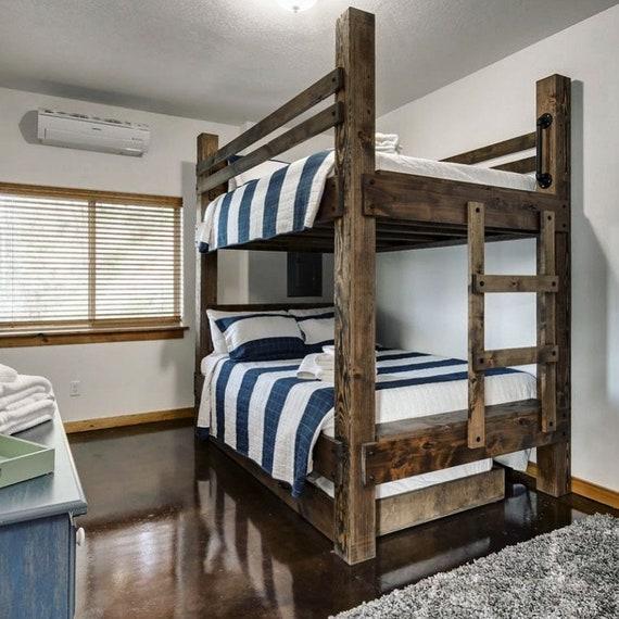 The BIG SKY Bunk Beds. Loft Bed Bunk Bed Frame Full Bed King Bed Frame Kids  Room Furniture Cabin Beds Queen Bunk Bed Full Bunk Beds