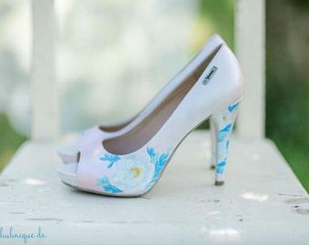 Hand-painted costum shoes, wedding shoes, Hochzeit Schuhe