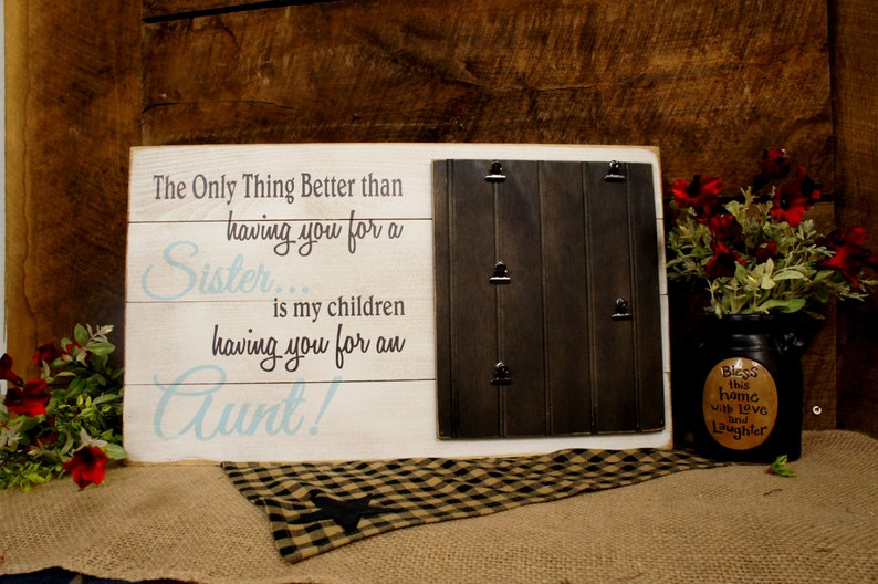 The Only Thing Better than having you for a Mom is our children having you for a Nana Rustic Wood Slat Style Photo frame 5 clips All Wood