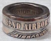82nd Airborne Division Challenge coin ring