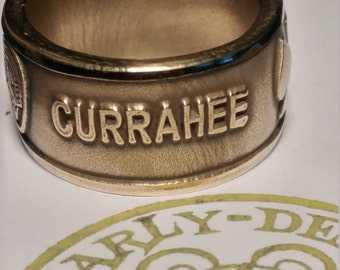 506th CURRAHEE challenge coin ring, 101st Airborne Division, Band of Brothers - and Sisters