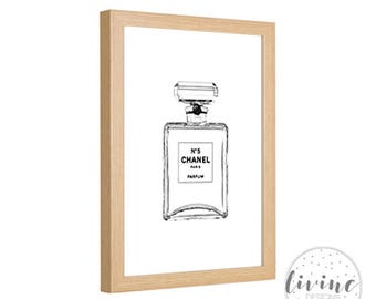Chanel nr 5 Perfume Printable Digital Sketch Instant Download