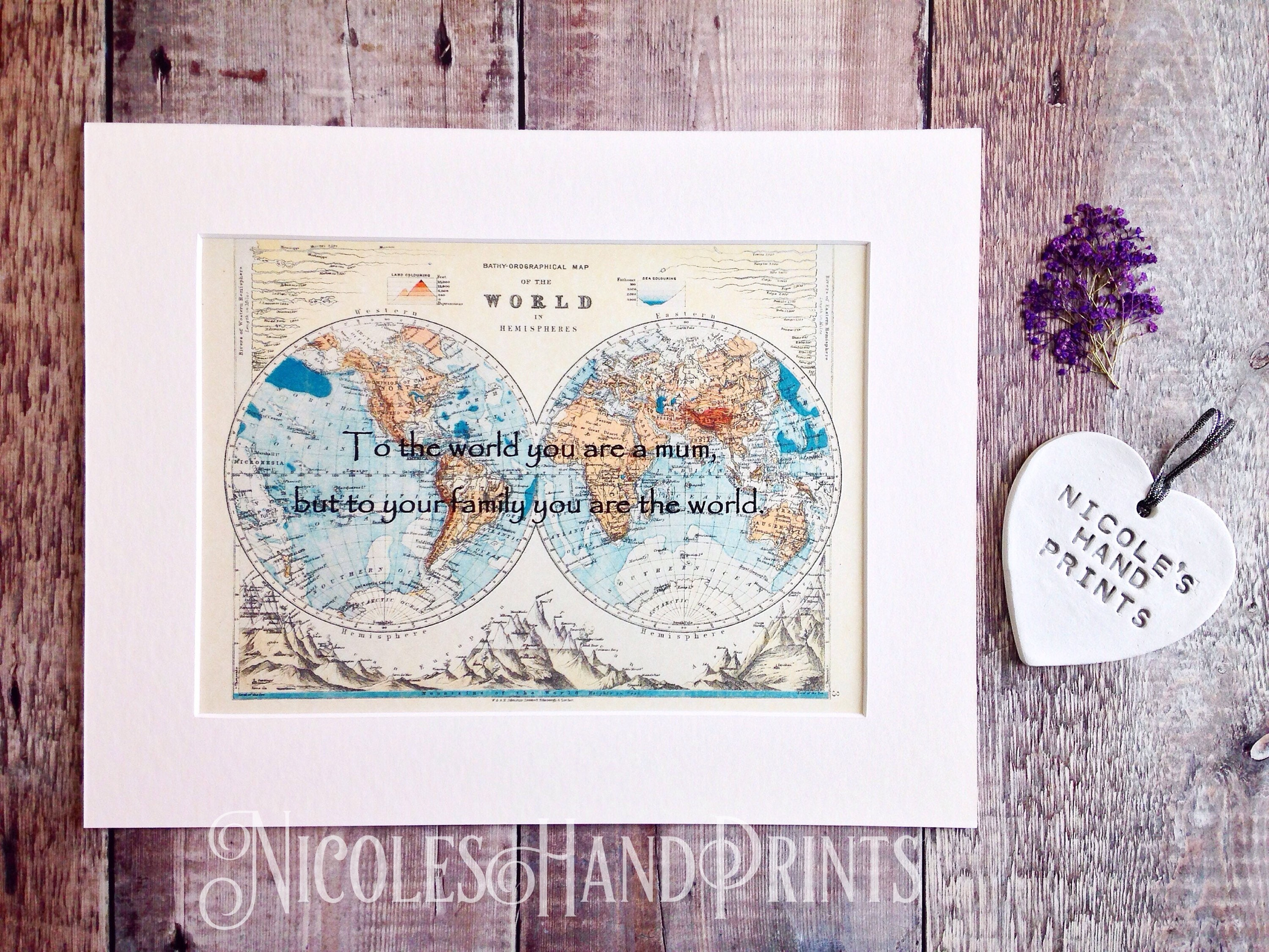 Personalised gift for mom gift boxed mothers day gift mum quote personalised gift for mom gift boxed mothers day gift mum quote print birthday present for mum vintage world map print custom map gift gumiabroncs Image collections