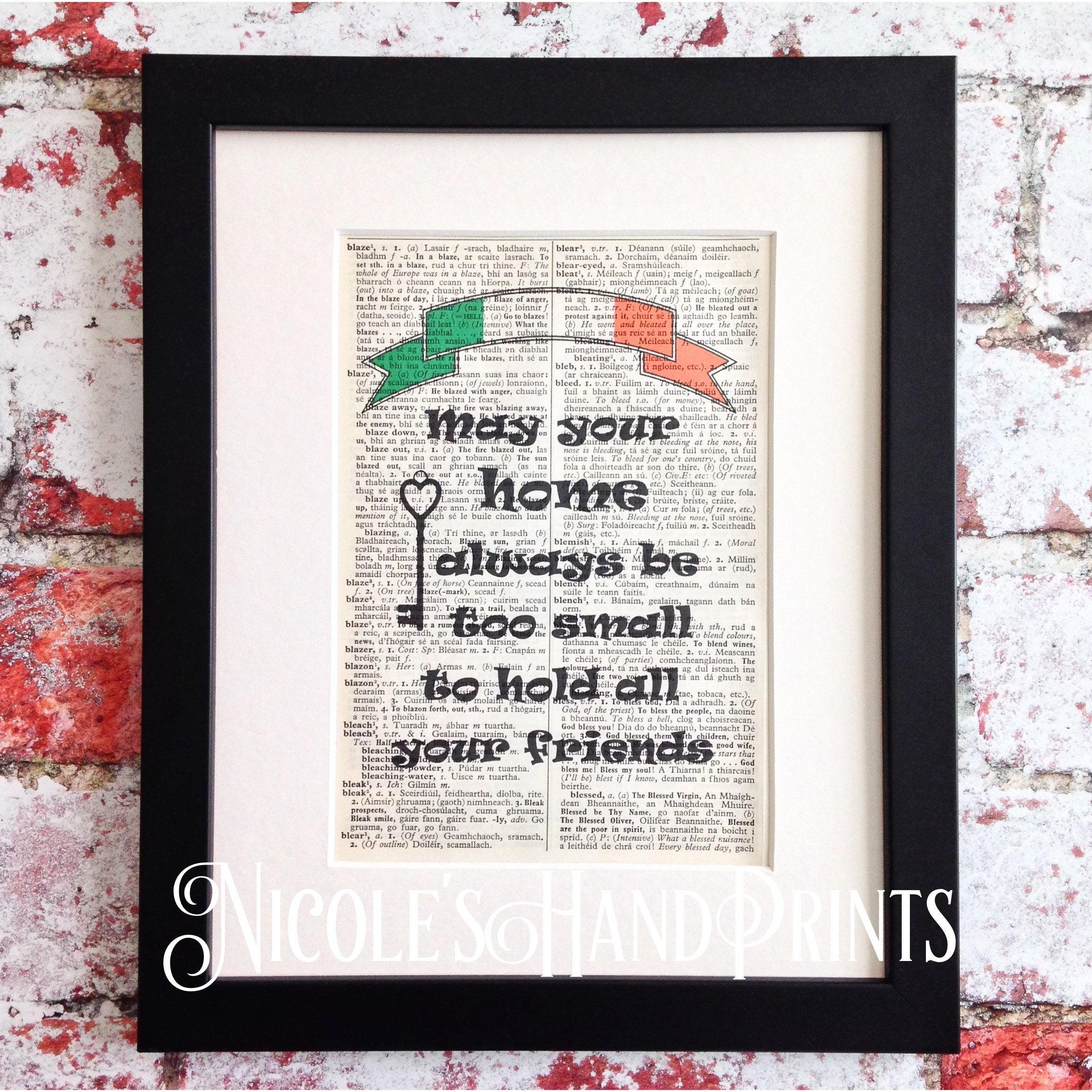 St Patrick\'s Day New Home Print Irish Blessing | Etsy