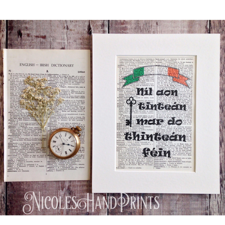 1  sc 1 st  NicolesHandPrints & New Home Housewarming Gift Irish Print Made in Ireland Irish ...