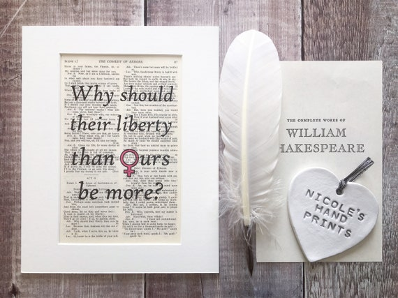 Shakespeare Quote dictionary page Print inspiration literary gift books art