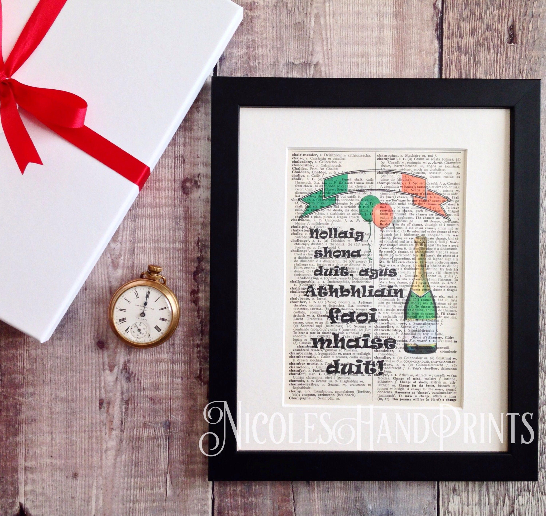 Christmas Decor Irish Christmas Blessing New Year Irish | Etsy