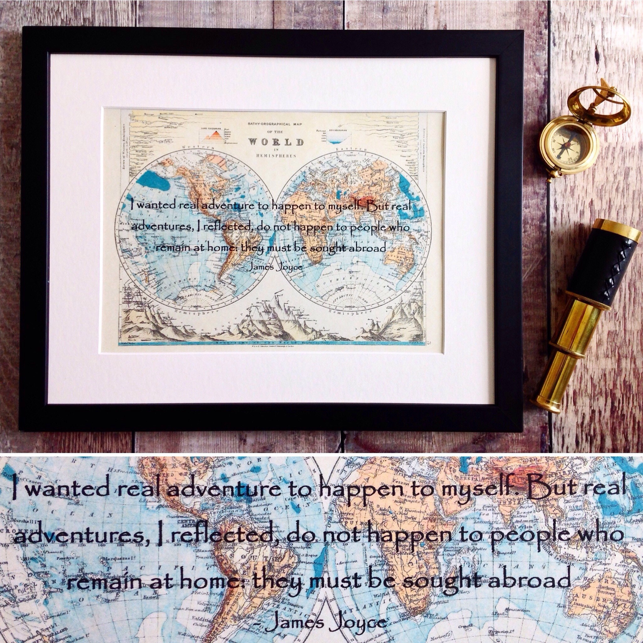 James joyce adventure quote old world map print handmade in ireland james joyce adventure quote old world map print handmade in ireland personalised travel lover map gift wanderlust wall art explore more gumiabroncs Images