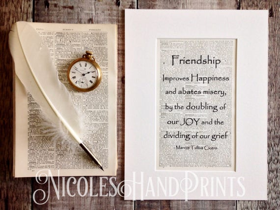 Thoughtful Gift For Friend Latin Quotes 60th Century Print Etsy Adorable Latin Quotes About Friendship