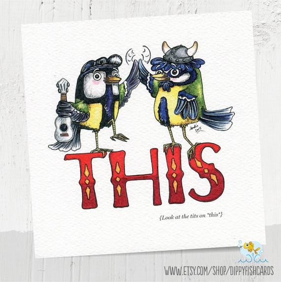 Unhoflich Valentinstag Karte Geburtstagskarte Vogel Titten Etsy