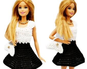 Barbie Skirt Dress and Purse PDF crochet pattern