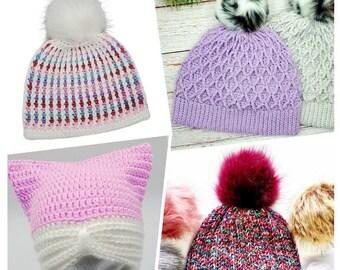 Crochet Hat Pattern Bundle