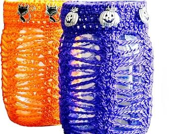Spiderweb Jar Cover PDF crochet pattern