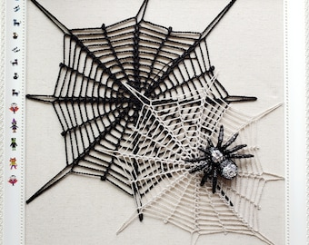 Halloween Spiderweb PDF crochet pattern