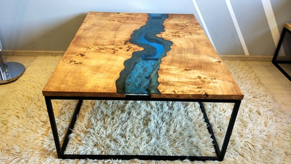 Sold Live Edge River Coffee Table Sold Etsy
