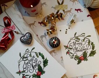 Christmas card - Merry Christmas // English or French