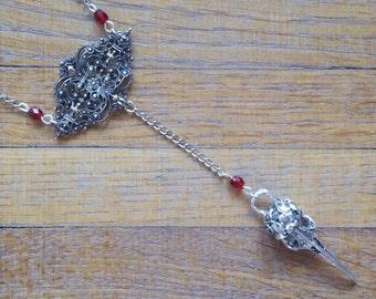 Red birdie necklace