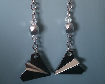 Paper planes earrings