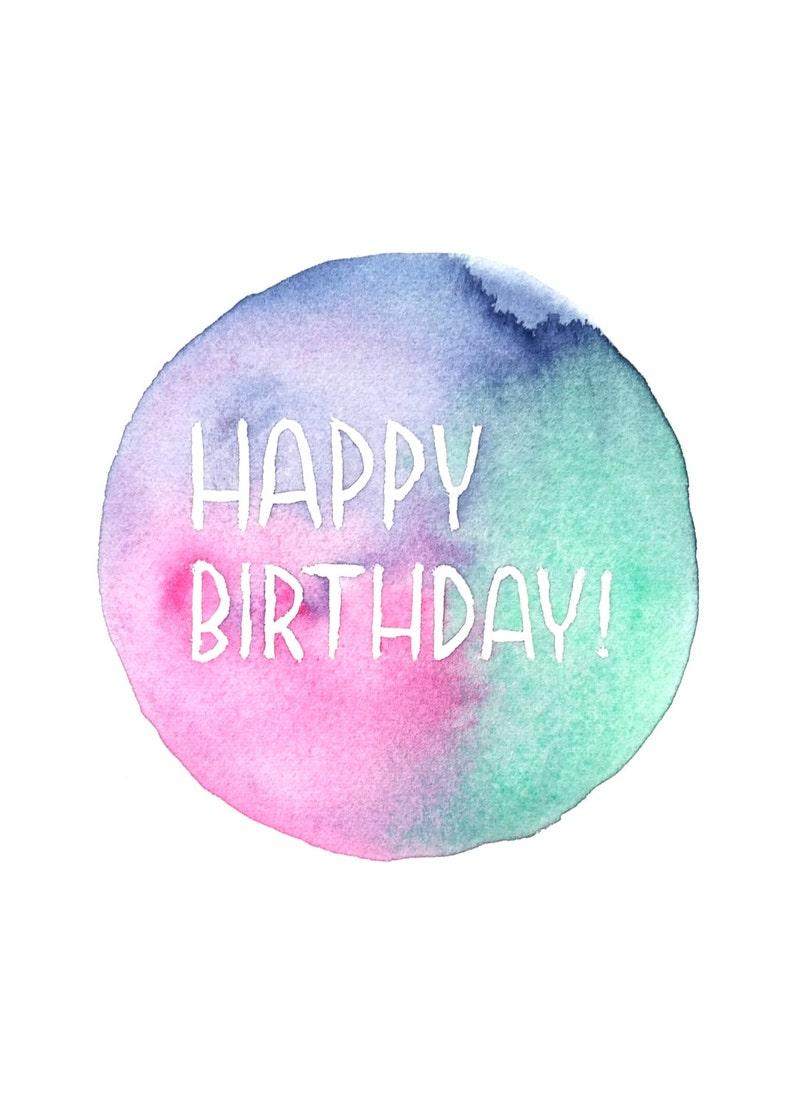 Happy Birthday  English or French Birthday card