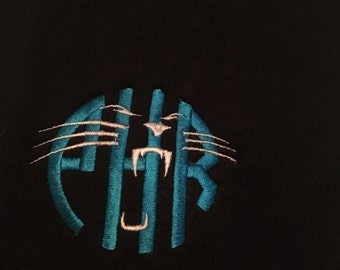 cad73d696 Monogram Carolina inspired football scarf