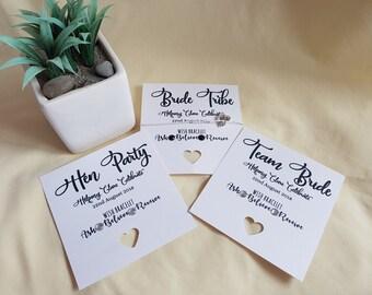 Hen Party, Hen Do, Hen weekend Team Bride-  Wish Bracelet - Friendship Bracelet - Personalised Card - 'Bride to Be' Charm - Hen Charm