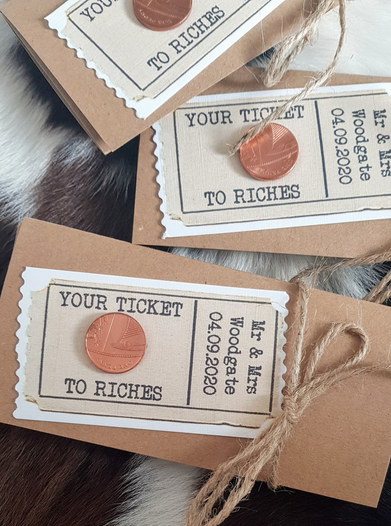 wedding favours scratchcard lottery ticket walletsholders