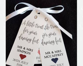 Flip Flops tags, Dancing Shoes Gift Tag Wedding Party,'A Little Treat For Your Dancing Feet, Wedding flip flop tags, Wedding shoes tag