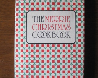 """1984 Cookbook, The Merrie Christmas Cookbook, 60+ pages, 7.5"""" x 4.5"""", 1984, Vintage"""