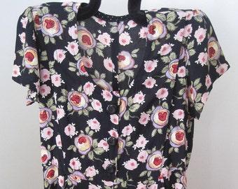 Maxi Dress, Floral Design, Vintage