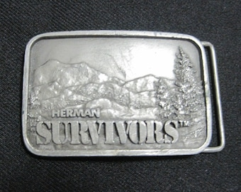Belt Buckle, Herman SURVIVORS, Advertising, Vintage