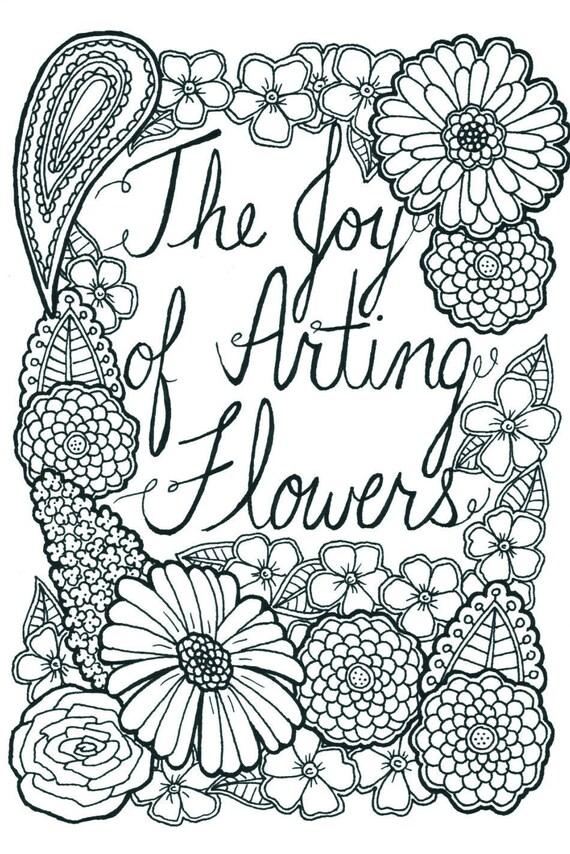 14 páginas de flores color de libro para colorear adultos | Etsy